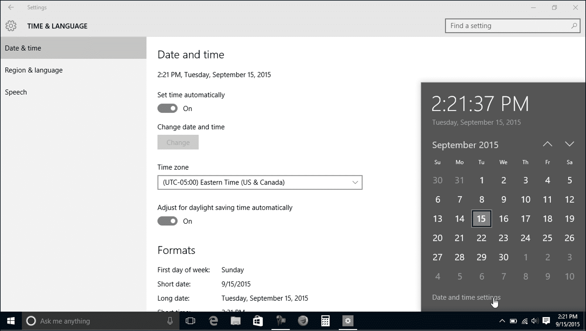 Change The Date And Time In Windows 10