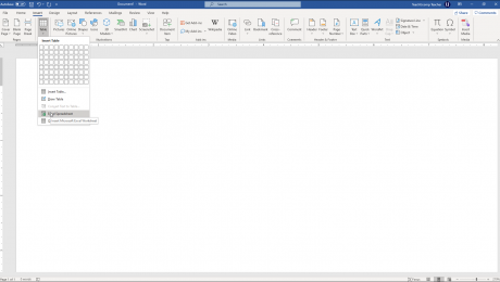 Insert an Excel Worksheet into a Word Document - Instructions: A picture of a user inserting an Excel spreadsheet into a Word document.