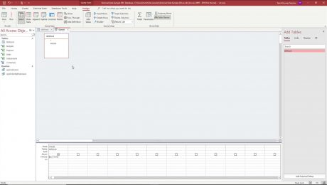 A picture showing how to use wildcard characters within query criteria in Access.