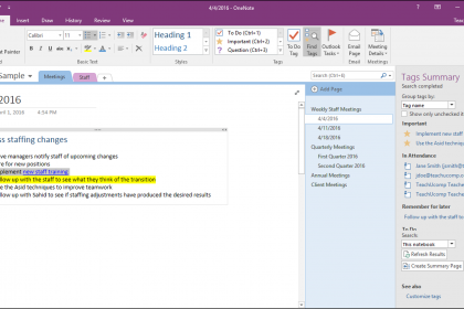 Tags in OneNote - Tutorial with Video - TeachUcomp, Inc