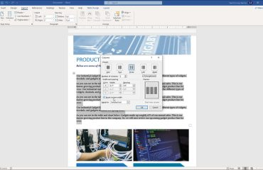 """Create Columns in Word - Instructions and Video Lesson: A picture of a user adding columns to a Word document by using the """"Columns"""" dialog box."""