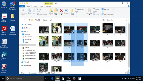 Select Files in Windows - Instructions and Video Lesson: A picture of a user selecting files in Windows using a selection marquee.