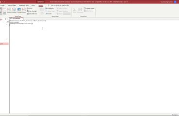 A picture showing a query in SQL view in Access.