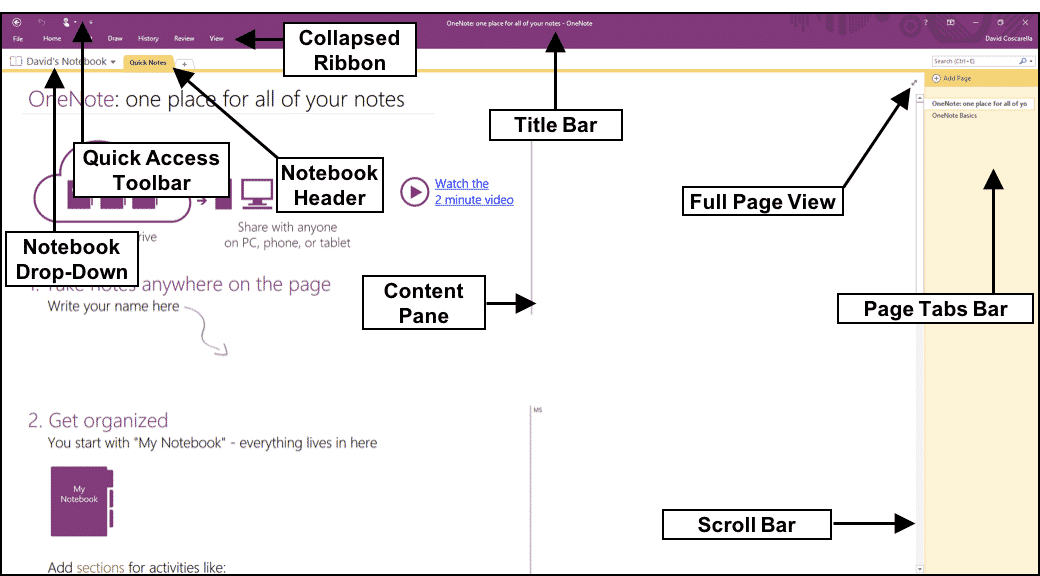 The OneNote Interface- Tutorial - TeachUcomp, Inc