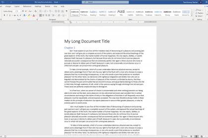 """Indent Paragraphs in Word- Instructions: A picture of a user applying a """"First Line Indent"""" using the indentation marker on the horizontal ruler in Word."""