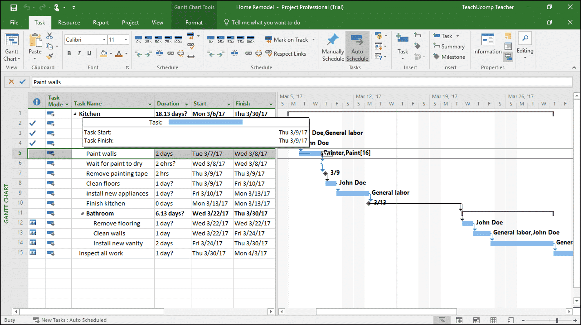 Split Tasks In Project Instructions And Video Lesson Teachucomp Inc