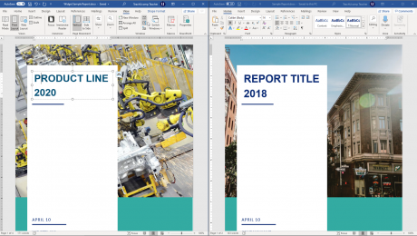 View Side by Side in Word - Instructions and Video Lesson: A picture of a user comparing two documents side by side in Word.