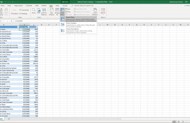 Freeze Panes in Excel - Instructions: A picture of a user selecting the Freeze Panes button in Excel.