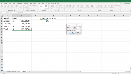 "Goal Seek in Excel- Instructions and Video Lesson: A picture of the ""Goal Seek"" dialog box in Excel."