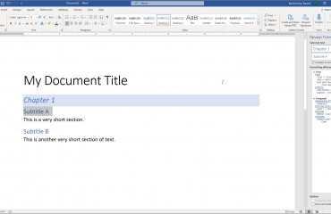 """Reveal Formatting in Word - Instructions and Video Lesson: A picture of a user comparing text formatting differences within the """"Reveal Formatting"""" pane in Word."""