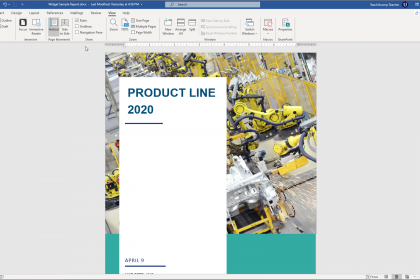 Show the Ruler in Word - Instructions: A picture of a user showing the ruler in Microsoft Word.