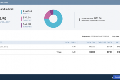 how to pay accreued payroll to employees on quickbooks online