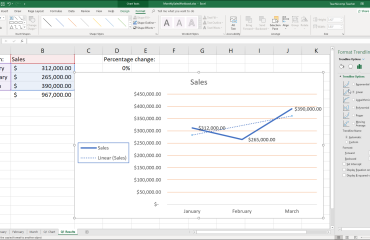 "Format Trendlines in Excel Charts - Instructions: A picture of a user formatting a trendline in an Excel chart using the ""Trendline Options"" section of the ""Format Trendline"" task pane."