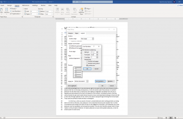"Add Line Numbers in Word - Instructions: A picture of the ""Line Numbers"" dialog box in Word."