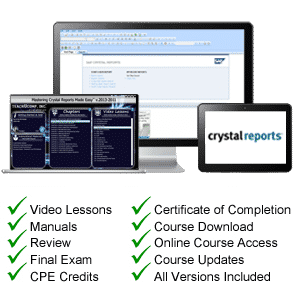 Crystal Reports Tutorial Training - TeachUcomp, Inc