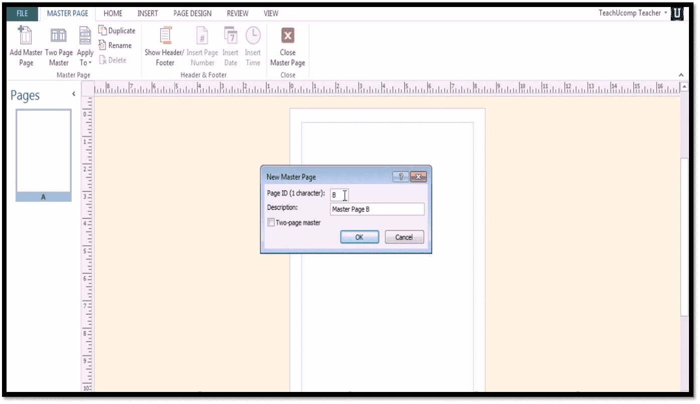Using Master Pages in Microsoft Publisher 2013 - TeachUcomp, Inc