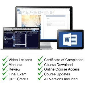 Word for Lawyers Tutorial Training - TeachUcomp, Inc