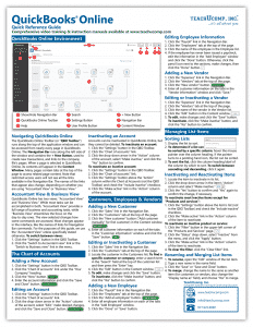 QuickBooks Online Quick Reference Cards: Buy QuickBooks Online Quick Reference Cards at TeachUcomp, Inc. A picture of the first page of the QuickBooks Online Quick Reference Card.