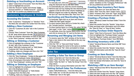 QuickBooks Pro 2015 Quick Reference Cards: Buy QuickBooks Pro 2015 Quick Reference Cards at TeachUcomp, Inc. A picture of the first page of the QuickBooks Pro 2015 Quick Reference Card.