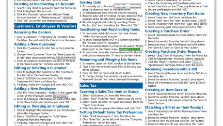 QuickBooks Pro 2019 Cheat Sheet Archives - TeachUcomp, Inc